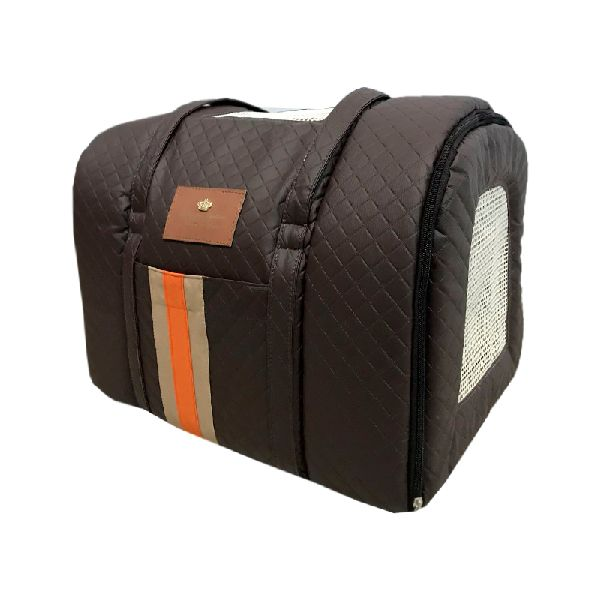 BOLSA DE TRANSPORTE TAM G - STRIPED COURINO MARROM