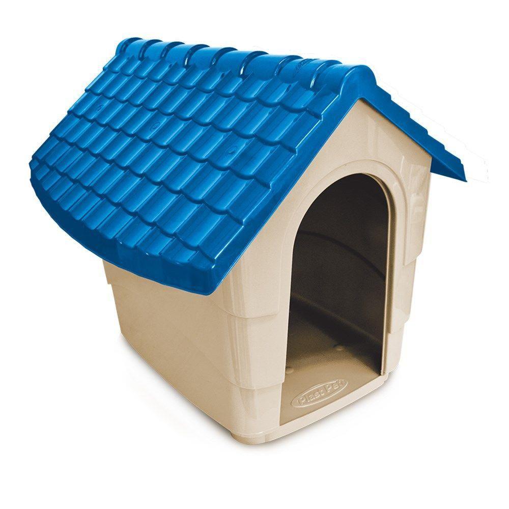 CASINHA PLAST PET HOUSE - AZUL
