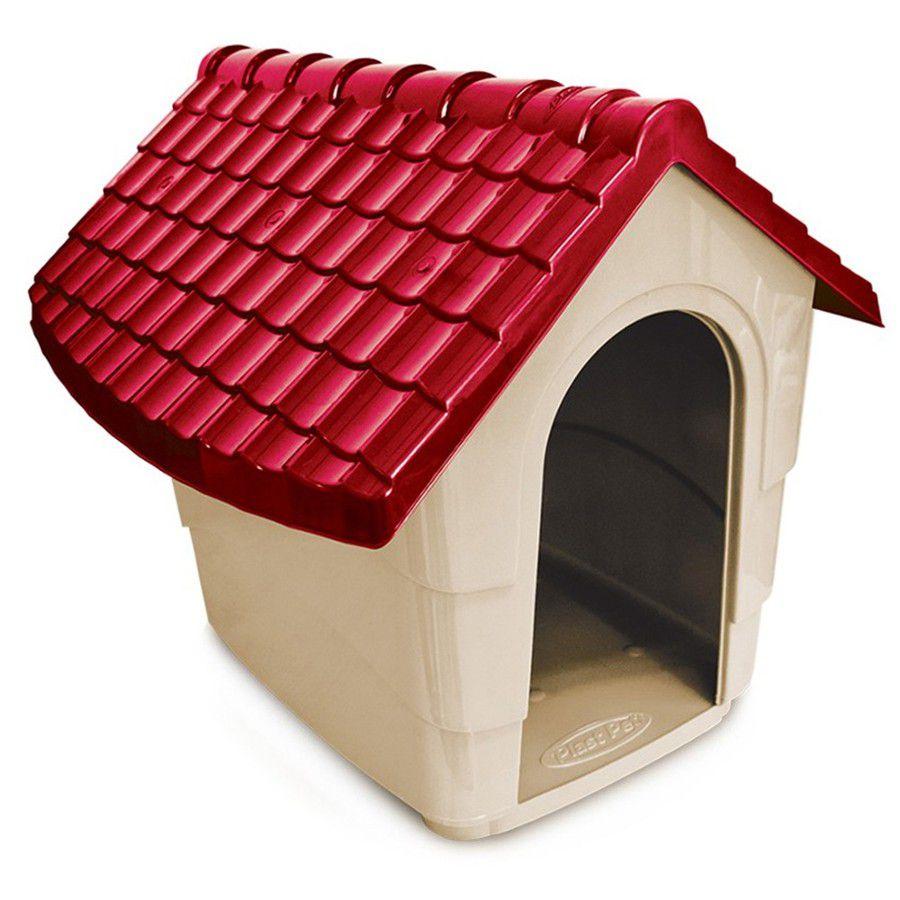 CASINHA PLAST PET HOUSE - VERMELHO