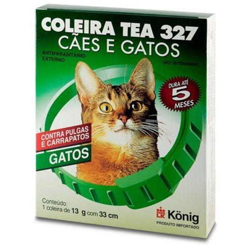 COLEIRA ANTIPULGAS E CARRAPATOS  PARA GATOS KONIG TEA 327 PARA GATOS