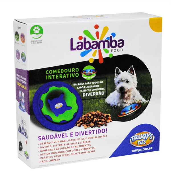 COMEDOURO INTERATIVO LABAMBA  FOOD TRUQYS - LARANJA