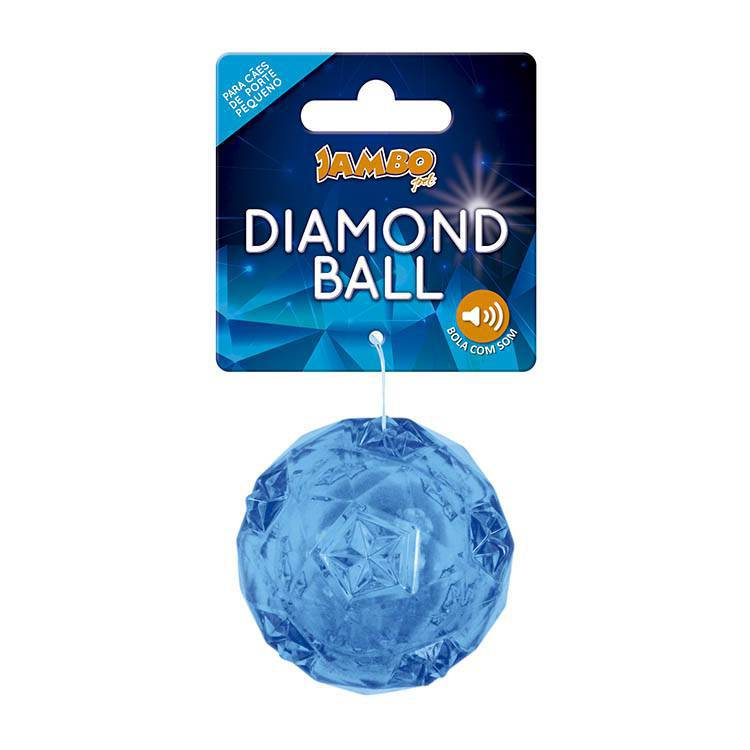 Bola Diamond Azul 50mm Para Cães Pequeno