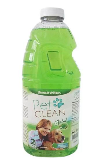 ELIMINADOR DE ODORES PET CLEAN  2 LITROS - HERBAL