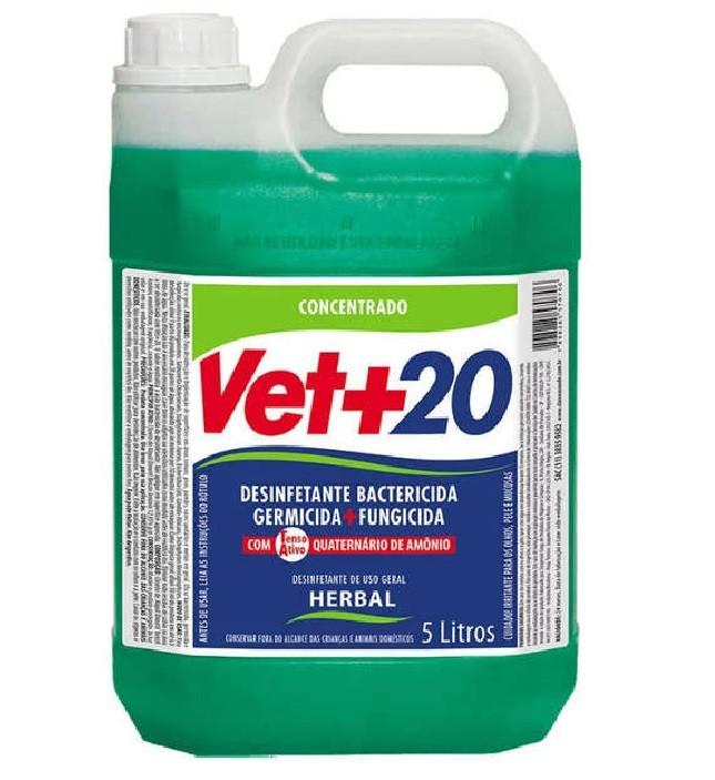 DESINFETANTE VET+20 BACTERICIDA HERBAL 5L
