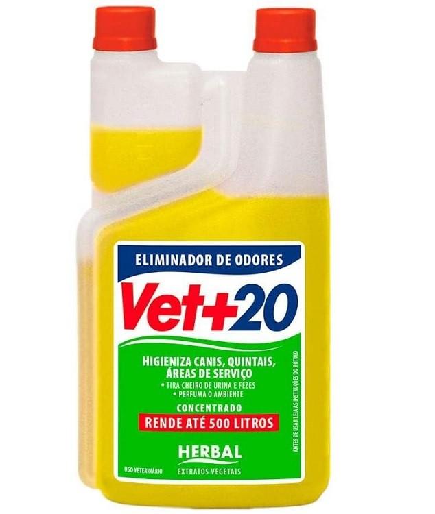 ELIMINADOR DE ODORES VET + 20 HERBAL 1L