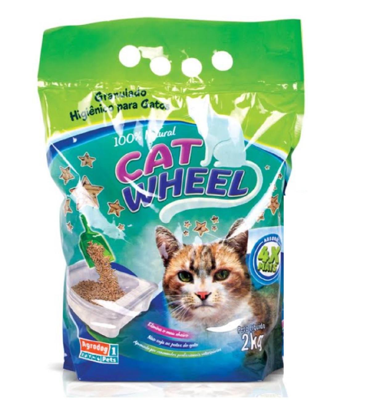 GRANULADO DE MADEIRA CAT WHEEL 2KG
