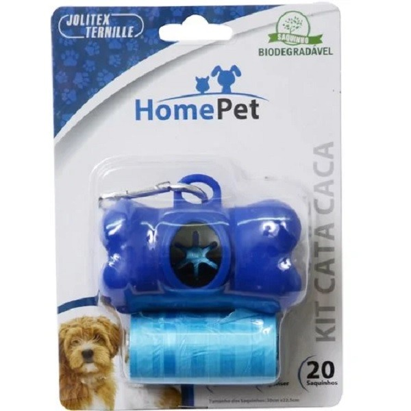KIT CATA CACA AZUL - HOME PET