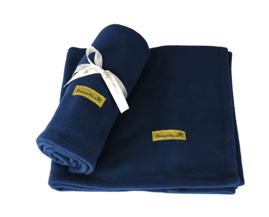 MANTA FLEECE PET 80cm X 75cm - AZUL  MARINHO