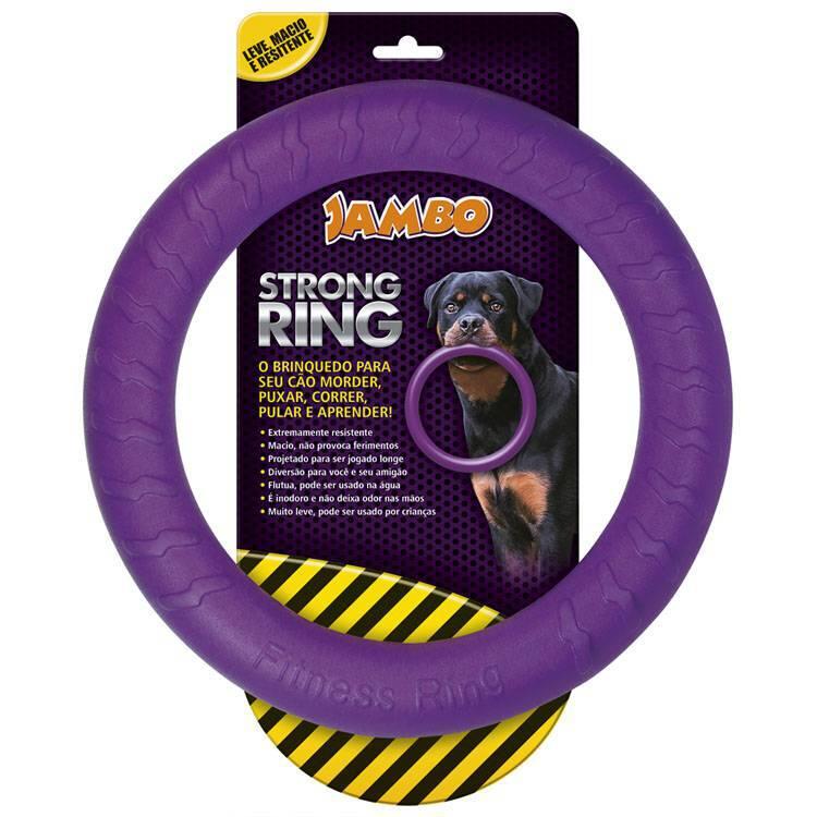 Mordedor Anel Para Cães Grande Ring Strong - Roxa