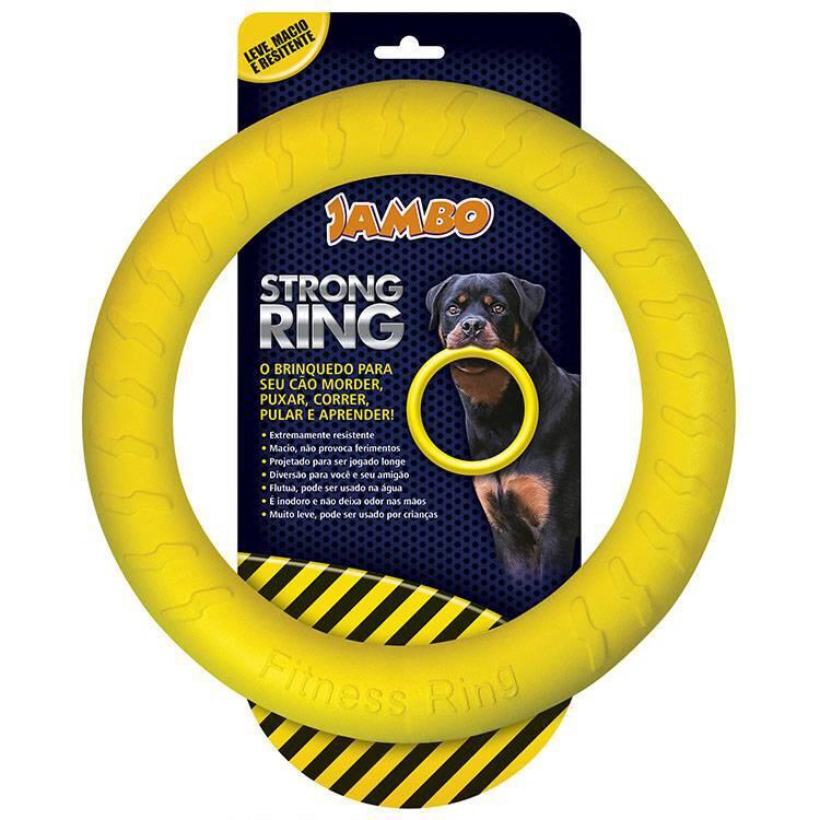 Mordedor Anel Para Cães Grande Ring Strong - Amarelo