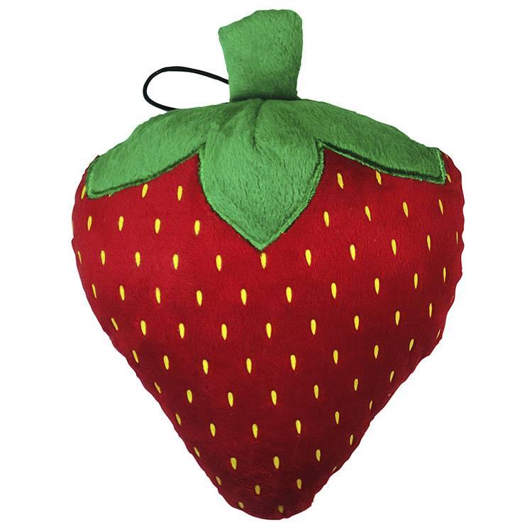 Mordedor Pelucia Fruit Morango