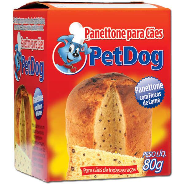 PANETTONE COM FLOCOS DE CARNE PET DOG - 80G