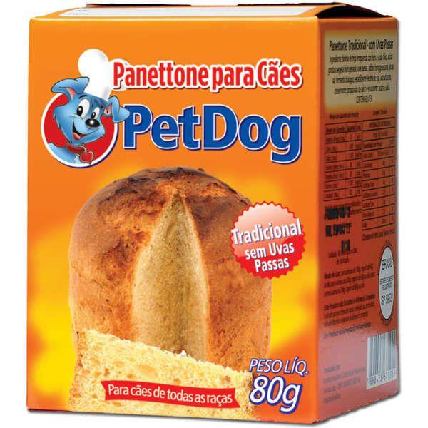 PANETTONE TRADICIONAL PARA CÃES  PET DOG - 80G
