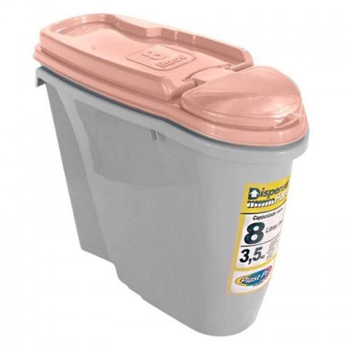 PORTA RAÇÃO DISPENSER HOME PLAST PET 3,5kg DE RAÇÃO - NUDE