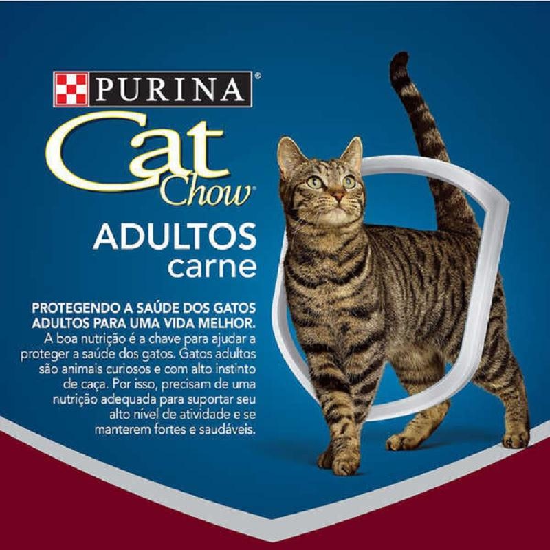RAÇÃO CAT CHOW GATOS ADULTOS SABOR CARNE 10KG