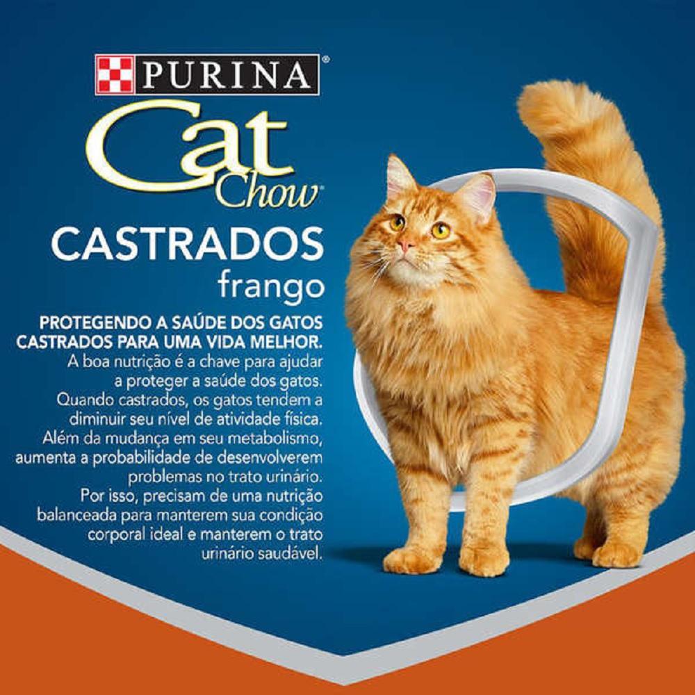 RAÇÃO CAT CHOW GATOS CASTRADOS SABOR FRANGO 10KG
