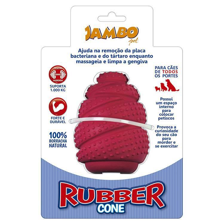 Rubber Cone Grande Vermelho - Porta Petisco