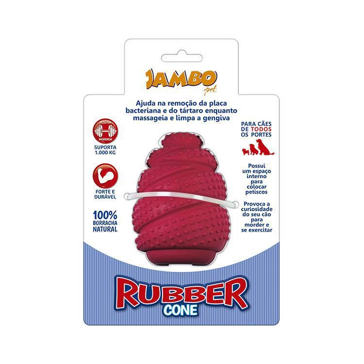 Rubber Cone Medio Vermelho - Porta Petisco