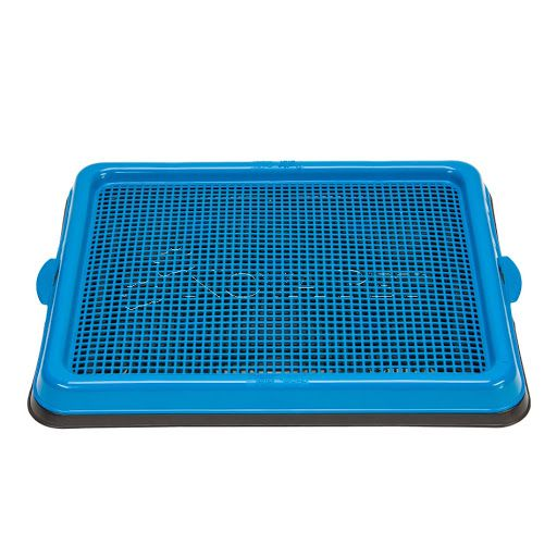 SANITARIO PARA CÃES PRATIC PIPI POP PLAST PET - AZUL