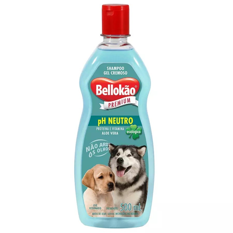 SHAMPOO BELLOKÃO NEUTRO PARA CÃES E GATOS 500ML