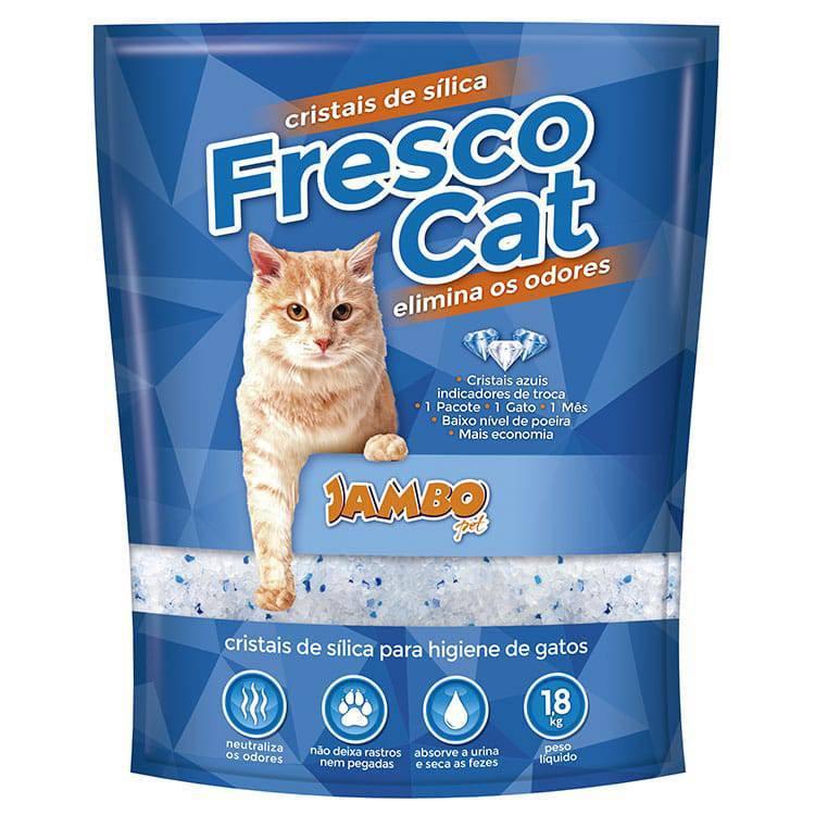 AREIA MICRO CRISTAIS DE SÍLICA FRESCO CAT PARA GATOS 1,6KG
