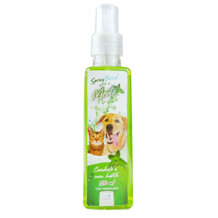 SPRAY BUCAL SABOR MENTA PARA CÃES E GATOS 120ML
