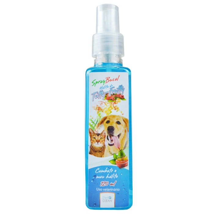 SPRAY BUCAL SABOR TUTTY FRUTTY PARA CÃES E GATOS 120ML