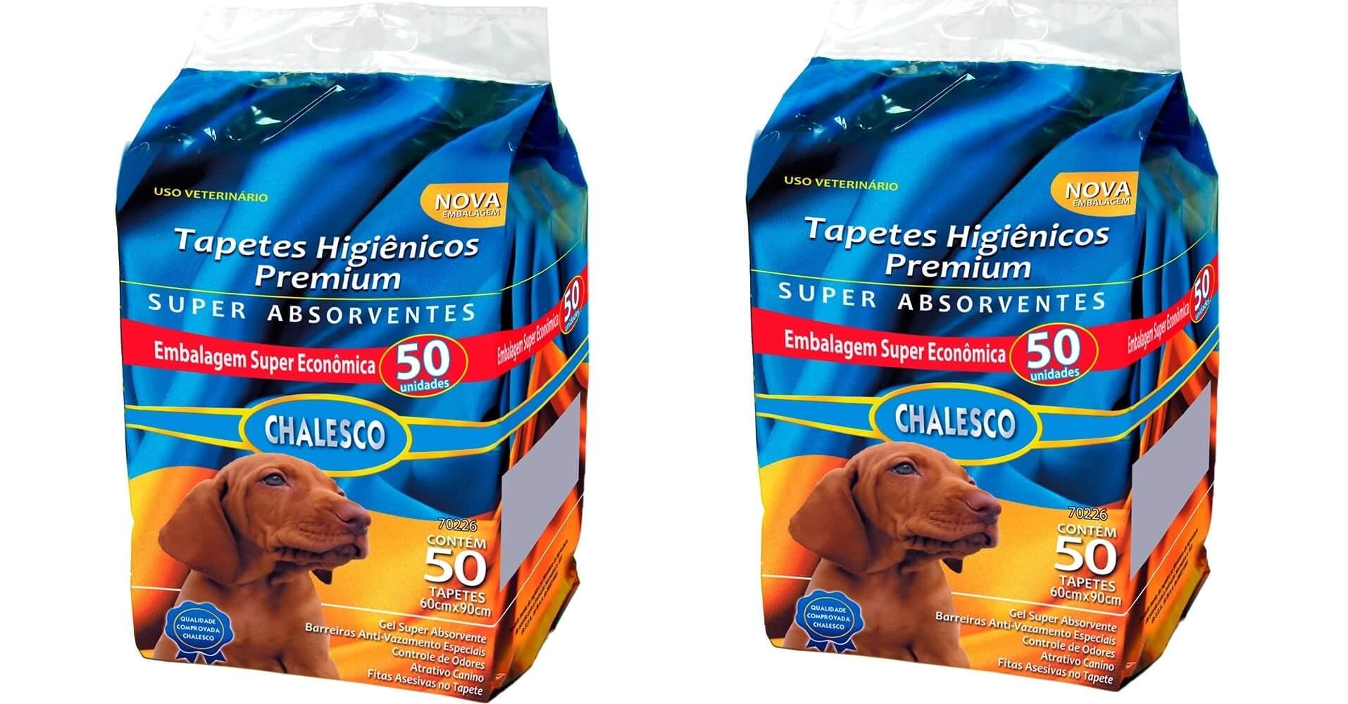 TAPETE HIGIENICO CHALESCO COM 100 UNIDADES