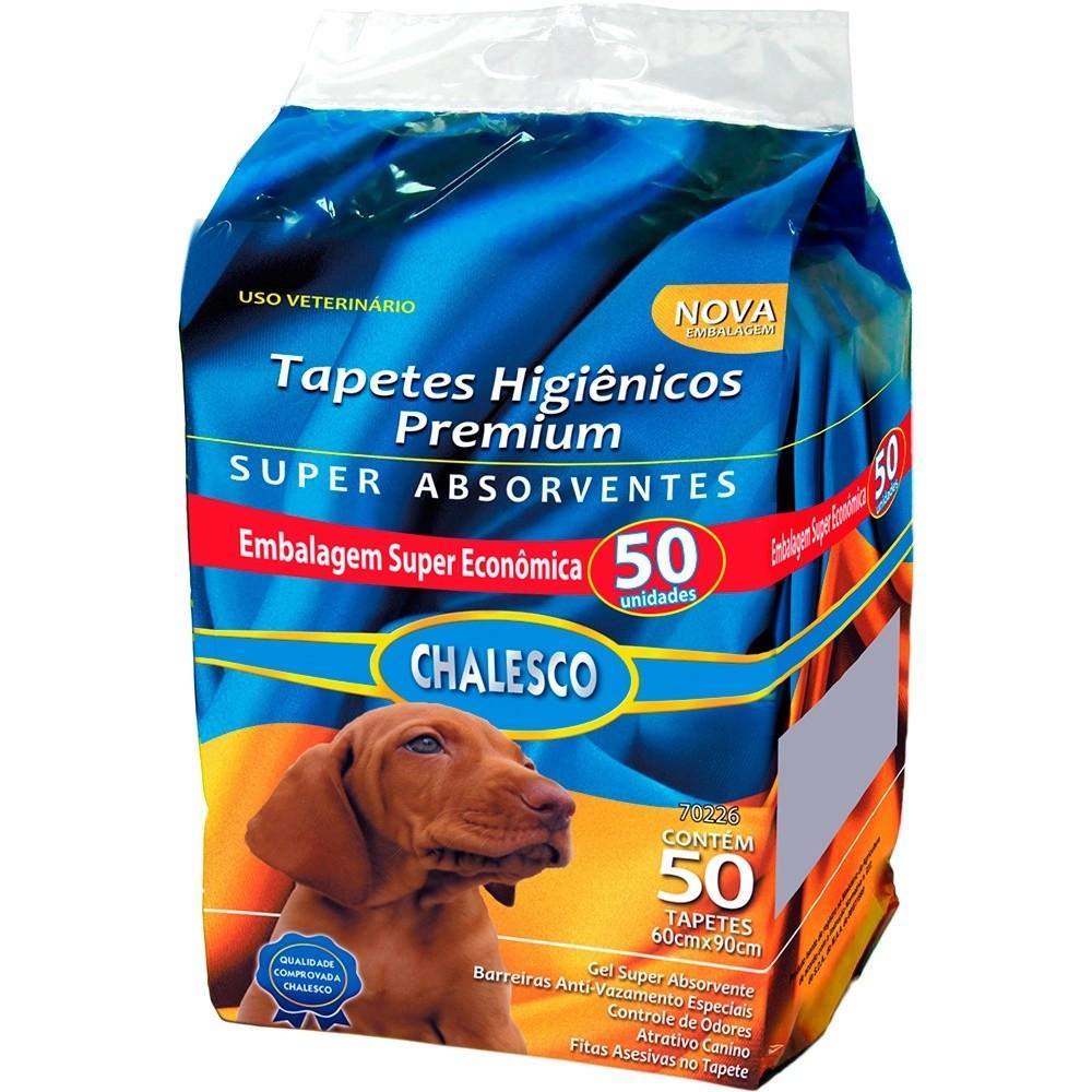 TAPETE HIGIENICO CHALESCO COM 50 UNIDADES