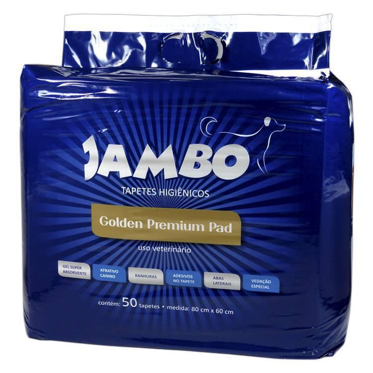 Tapete Higienico Golden Premium 80cm X 60cm - 50 unidades