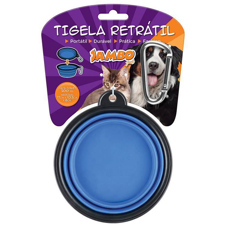 TIGELA RETRATIL VERMELHA 500ML