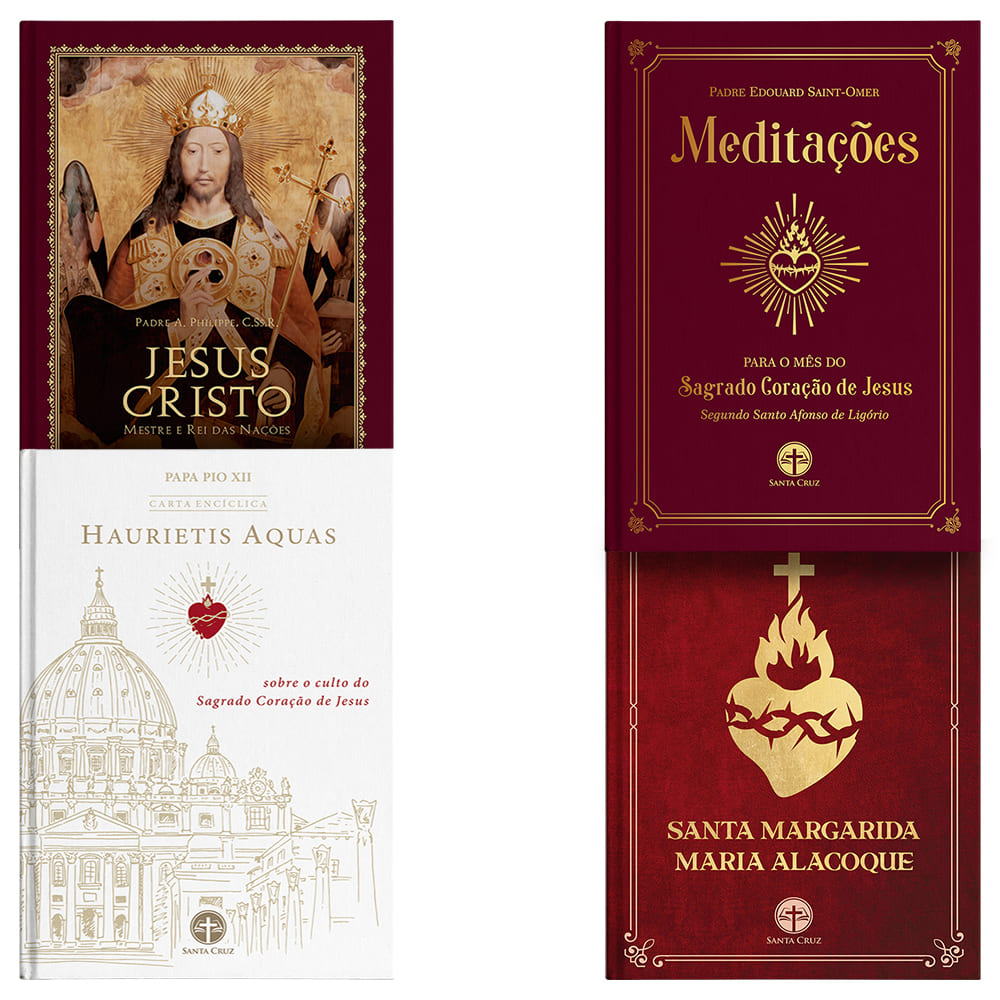 Combo Sagrado Coração de Jesus (4 livros)