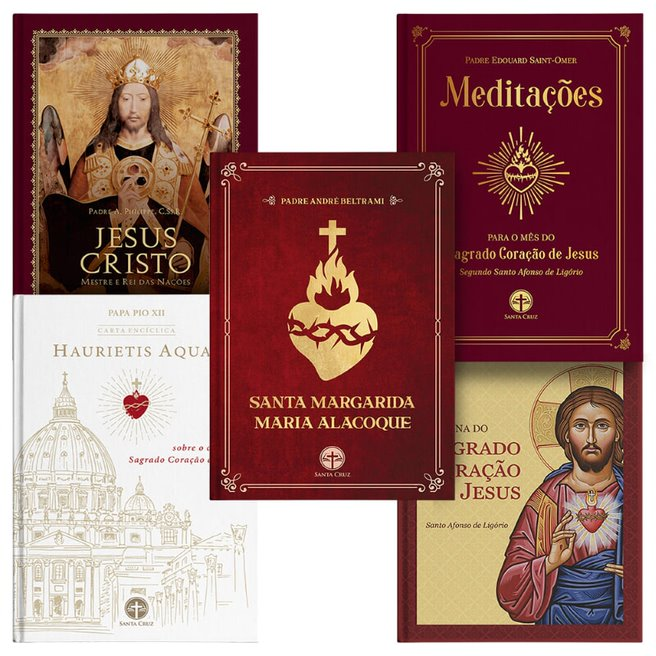 Combo Sagrado Coração de Jesus (5 livros)