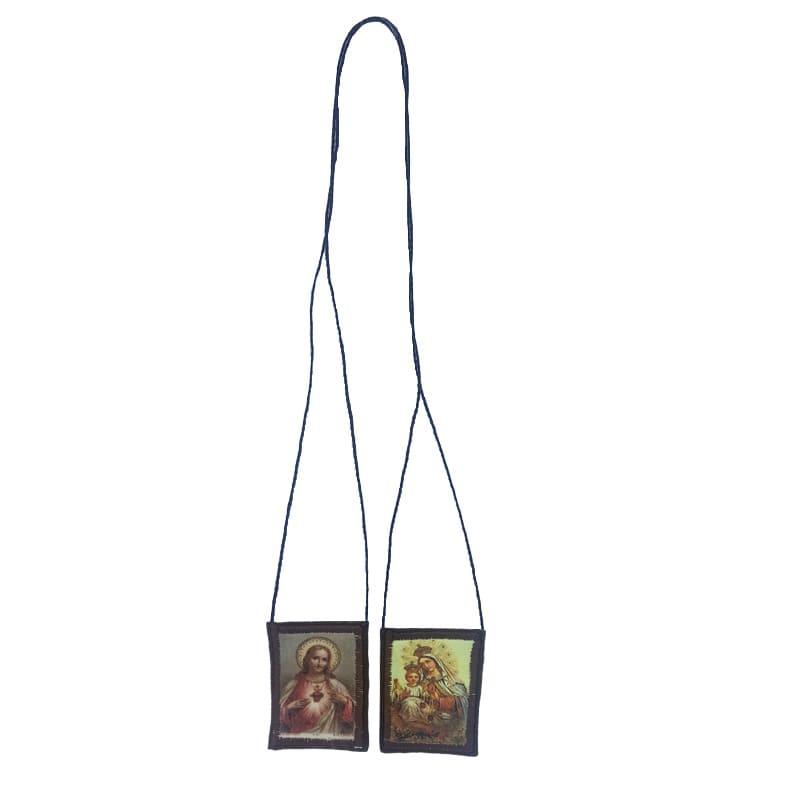 Escapulário de Tecido com Porta Medalha (3 x 4 cm) - Colorido