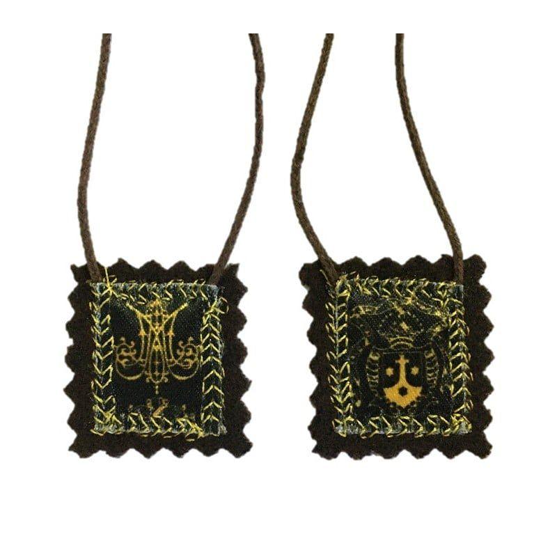 Escapulário de Lã Pura Brasão - Pequeno (2 x 2,5 cm)