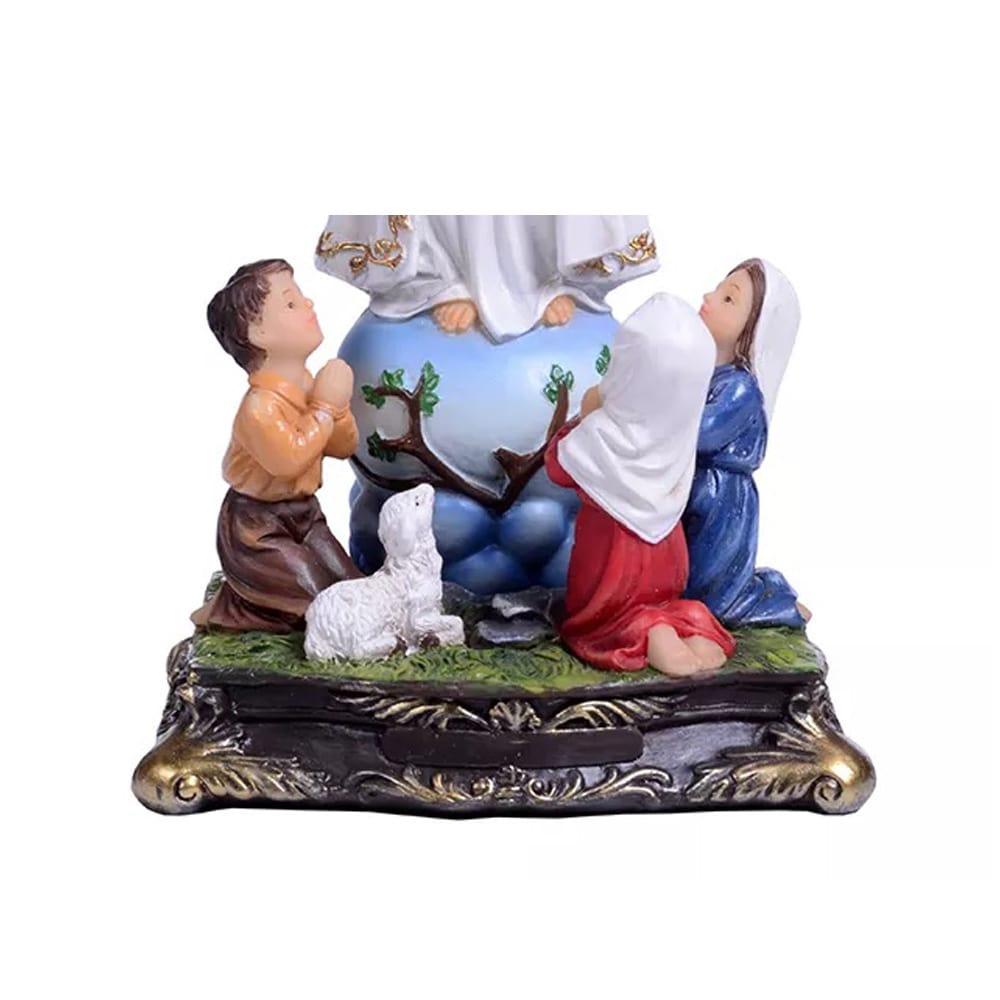 Imagem Nossa Senhora de Fátima com Pastorinhos (Coleção Angelus)