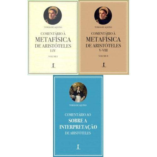 Kit - Comentários de Santo Tomás de Aquino (3 Livros)