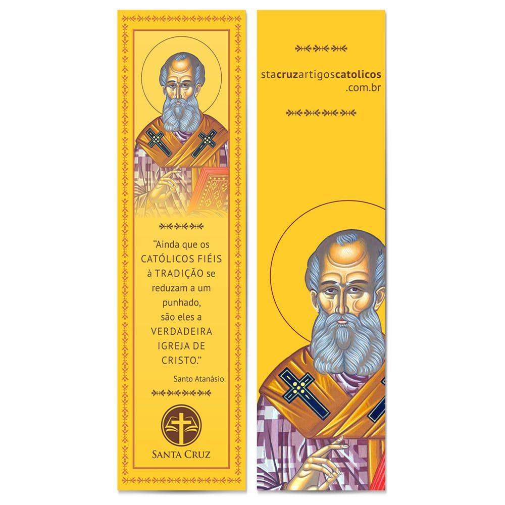 Marcador de Página Santo Atanásio - 18 x 5 cm