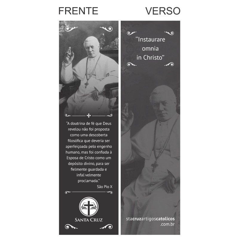 Marcador de Página São Pio X - 18 x 5 cm