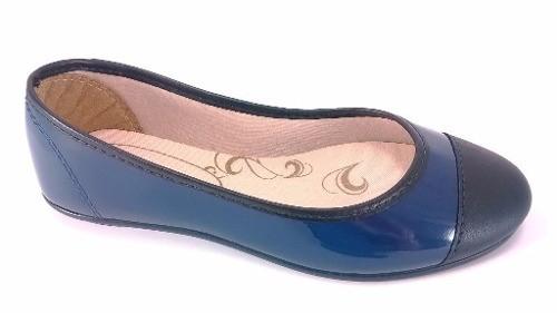 Sapatilha Confort FEM Cap Toe Azul  - SAPATOWEB.COM