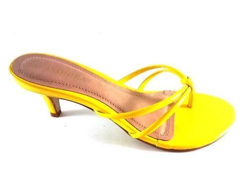 Tamanco ikonika Verniz Amarelo  - SAPATOWEB.COM