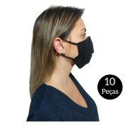 Kit com 10 Máscaras De Proteção Tecido Lavável
