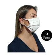 Kit com 5 Máscaras De Proteção Tecido Lavável