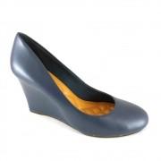 Sapato Anabela Via Uno Confort Marinho
