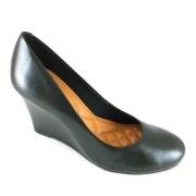 Sapato Anabela Via Uno Confort Preto
