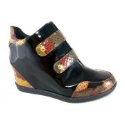 Sneaker Confort TopGrife Couro Multicolorido