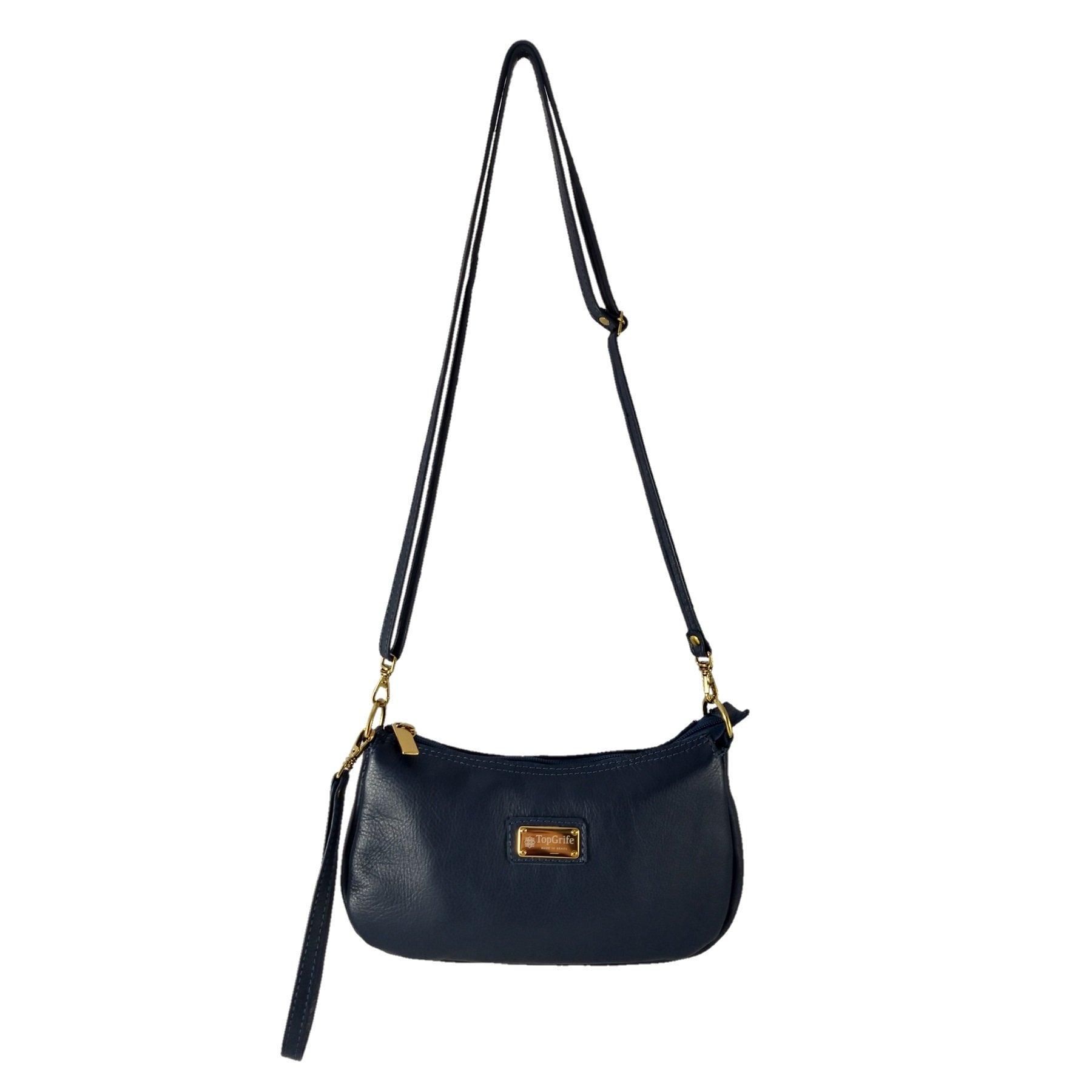 Bolsa Carteira Clutch TopGrife Couro Azul Marinho  - SAPATOWEB.COM