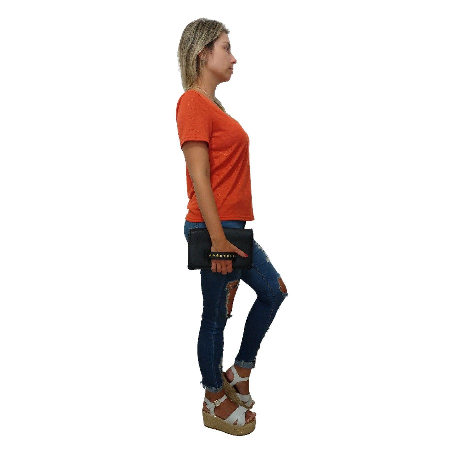 Bolsa Carteira Clutch TopGrife Transversal Couro  - SAPATOWEB.COM