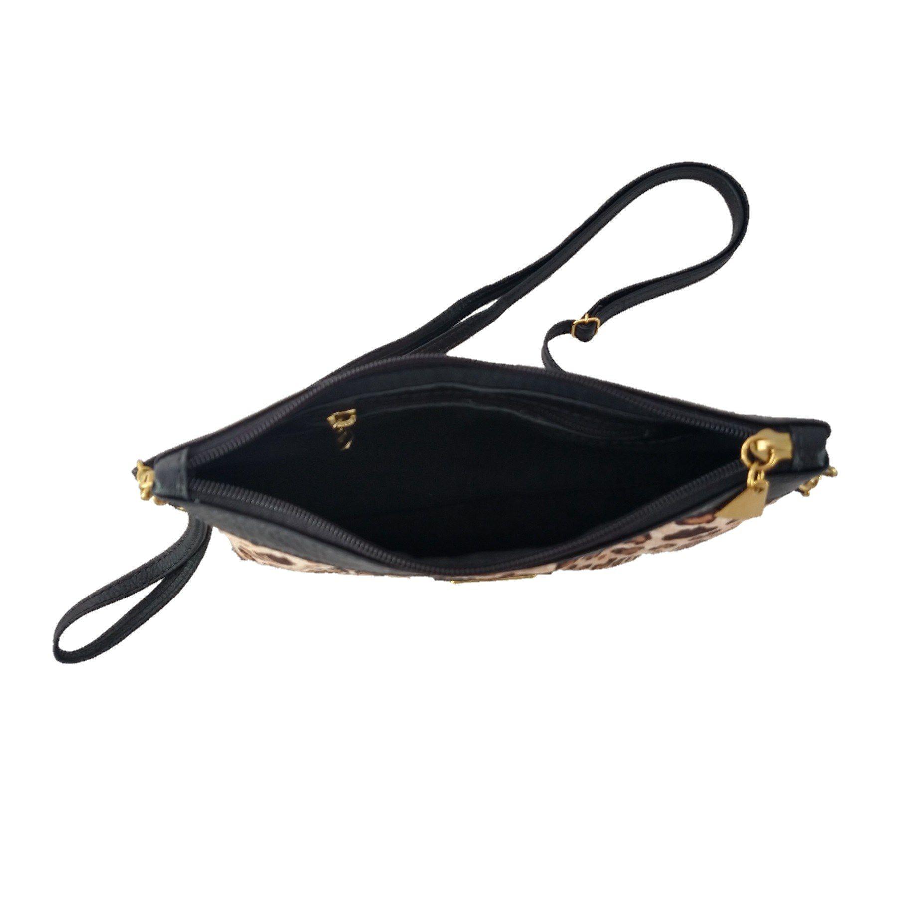 Bolsa Carteira Clutch TopGrife Transversal Couro Onça  - SAPATOWEB.COM