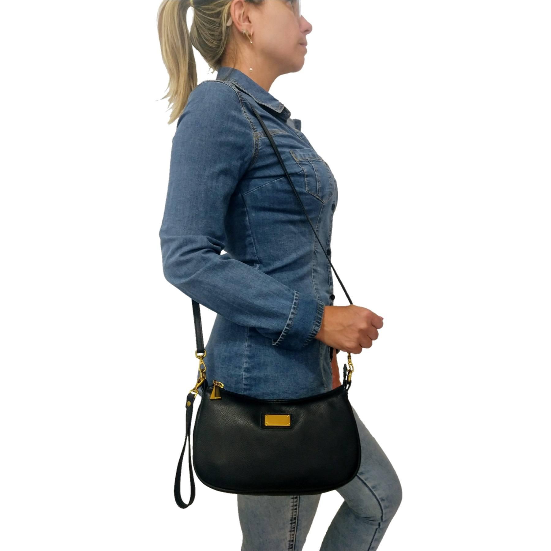 Bolsa Carteira Clutch TopGrife Transversal Couro Preto - Promoção  - SAPATOWEB.COM